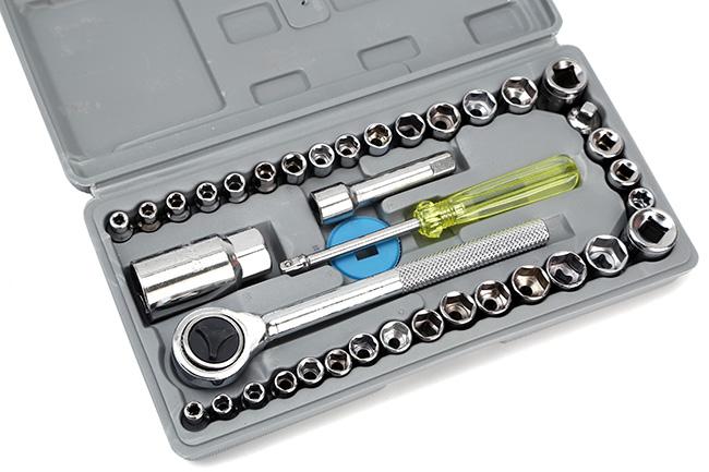 Bộ dụng cụ sửa chữa ô tô và xe máy 40 món đa năng
