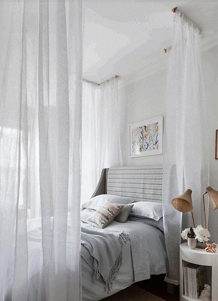 rèm cửa phòng ngủ màu trắng