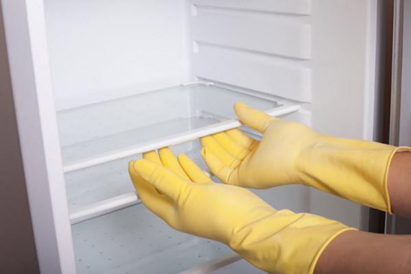 Lau chùi lại toàn bộ tủ lạnh