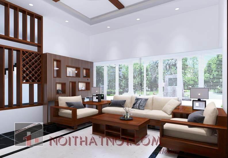 Mẫu bàn ghế sofa gỗ phòng khách đẹp nhất