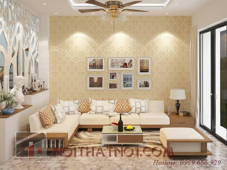 Lựa sofa gỗ góc cho phòng khách đẹp nhất