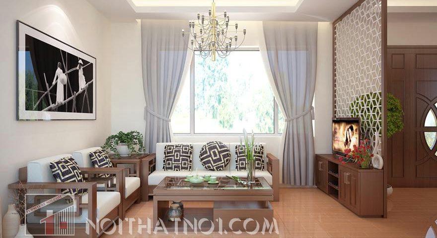 Bàn ghế sofa gỗ cho phòng khách nhỏ