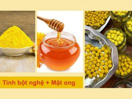 Uống tinh bột nghệ với mật ong, tác dụng và cách uống bạn cần biết