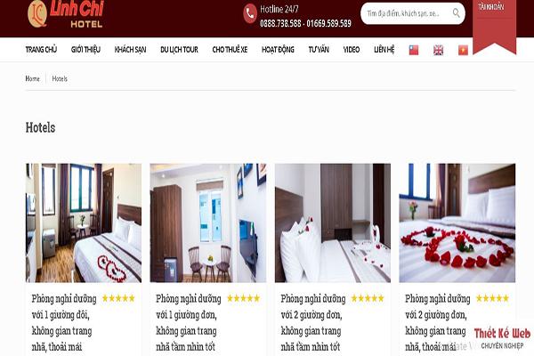 Thiết kế website khách sạn chuyên nghiệp giá rẻ