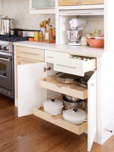 Những chiếc kệ kéo thông minh giúp bạn cất giữ và sử dụng các loại vật dụng một cách dễ dàng