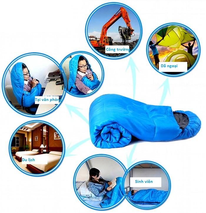 Túi ngủ là vật dụng quen thuộc và phổ biến trong đời sống ngày nay