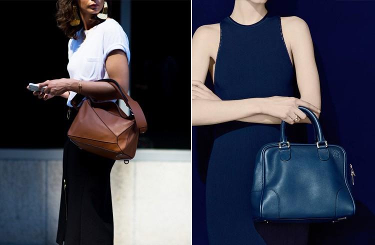 Túi da màu trung tính cỡ trung phù hợp với cô nàng thanh lịch