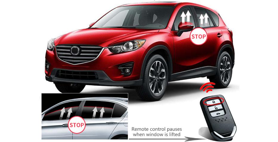 Bộ tự động gập gương lên xuống kính Mazda 3 giúp bảo vệ xe hoàn hảo